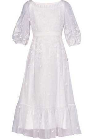 Erdem Floredice Floral-embroidered Organza Midi Dress - Womens