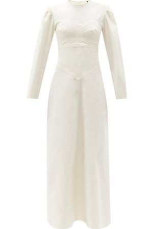 Isabel Marant Taylin Panelled Cotton Maxi Dress - Womens - Ivory
