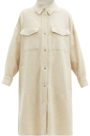 Isabel Marant Fontia Oversized Wool-blend Shirt Coat - Womens - Ivory