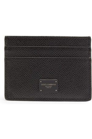 Dolce & Gabbana Logo-print Grained-leather Cardholder - Mens