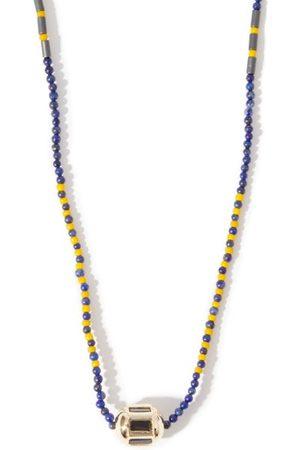 LUIS MORAIS Hexagon Lapis-lazuli & 14kt Gold Necklace - Mens - Multi