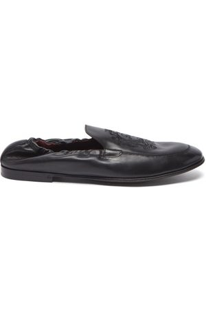 Dolce & Gabbana Ariosto Elasticated Leather Loafers - Mens