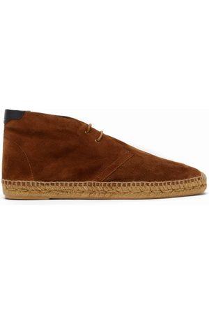 Saint Laurent Suede Espadrille Boots - Mens