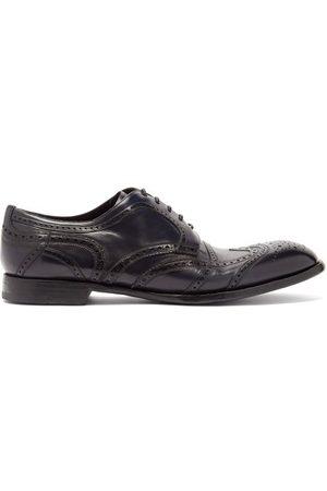 Dolce & Gabbana Men Formal Shoes - Derby Leather Brogues - Mens