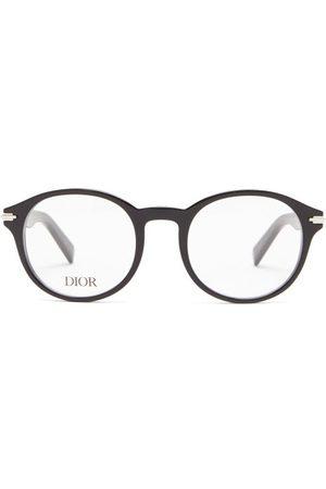 Dior Blacksuit Round Acetate Glasses - Mens
