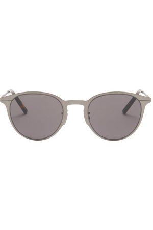 Dior Men Round - Essential Round Metal Sunglasses - Mens - Dark Grey