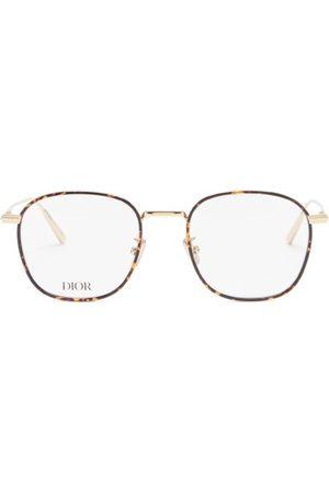 Dior Blacksuit Round Metal Glasses - Mens