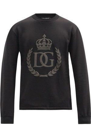 Dolce & Gabbana Rubberised 3d Logo Cotton-jersey Sweatshirt - Mens