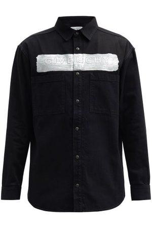 Givenchy Coated-logo Denim Shirt - Mens