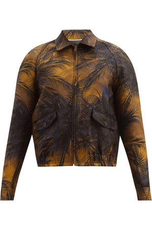 Saint Laurent Teddy Zip-through Palm-tree Jacquard Jacket - Mens