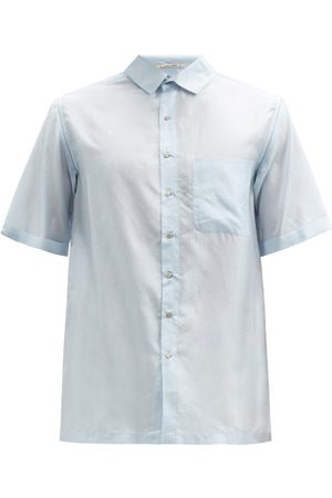 PÉRO Short-sleeve Silk-voile Shirt - Mens - Light