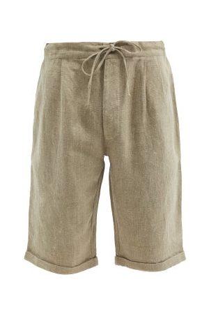 PÉRO Drawstring Hand-woven Linen Shorts - Mens