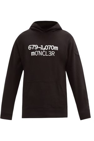 Moncler 1952 - Logo-print Cotton-jersey Hooded Sweatshirt - Mens