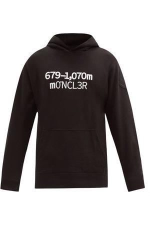 Moncler Logo-print Cotton-jersey Hooded Sweatshirt - Mens
