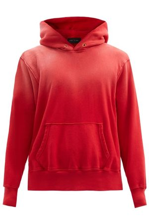 Les Tien Ombré Brushed-back Cotton Hooded Sweatshirt - Mens
