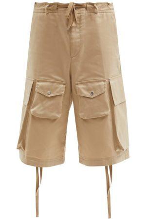 Moncler Cotton-twill Wide-leg Cargo Shorts - Mens