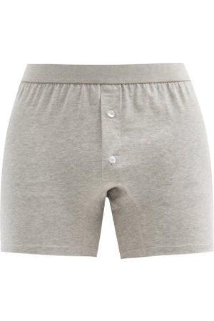 Comme des Garçons Men Boxer Shorts - Cotton-jersey Boxer Briefs - Mens - Grey