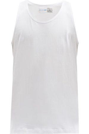 Comme des Garçons Men Tank Tops - Crew-neck Cotton-jersey Vest - Mens