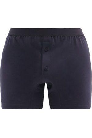 Comme des Garçons Cotton-jersey Boxer Shorts - Mens - Navy