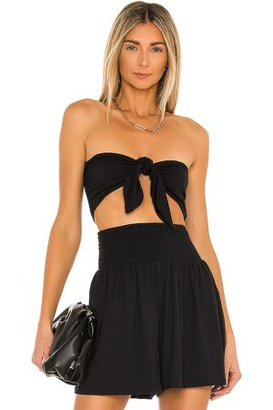 Susana Monaco Reversible Crop Bow Top in .