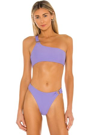 Lovers + Friends Jira Top in Purple.