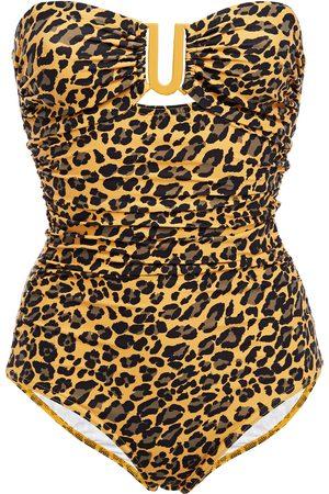 ZIMMERMANN Women Swimsuits - Woman Separates Sculpt Link Leopard-print Bandeau Swimsuit Animal Print Size 0
