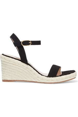 Stuart Weitzman Women Sandals - Woman Teddi Suede Espadrille Wedge Sandals Size 36