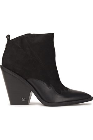 SAM EDELMAN Woman Ilah Leather-trimmed Suede Ankle Boots Size 10