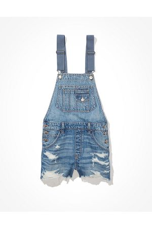 American Eagle Outfitters Women Dungarees - 90s Boyfriend Denim Short Overall Women's S