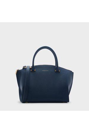 CHARLES & KEITH Curved Zip Tote Bag