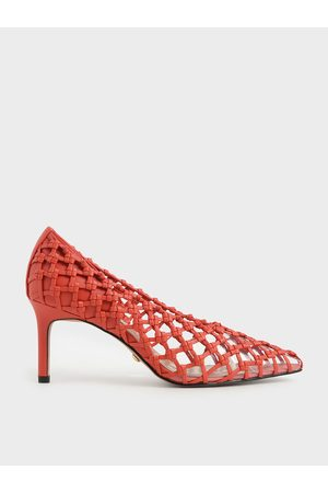 CHARLES & KEITH Limited Edition: Woven Caged Pumps