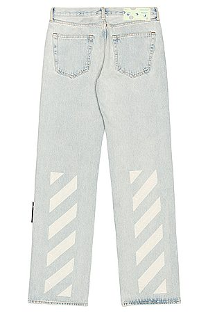 OFF-WHITE Relaxed Fit Jeans in Denim-Light