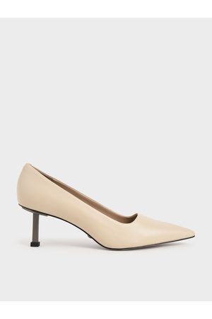 CHARLES & KEITH Leather Kitten Heel Pumps