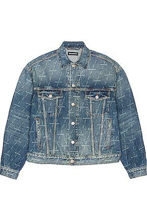 Balenciaga Large Fit Denim Jacket in Authentic Dark in Denim-Medium