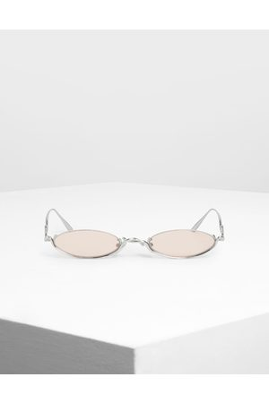 CHARLES & KEITH Wire Frame Oval Sunglasses