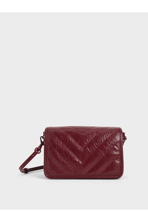 CHARLES & KEITH Quilted Patent Crossbody Bag