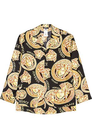 VERSACE Medusa All Over Shirt in Yellow