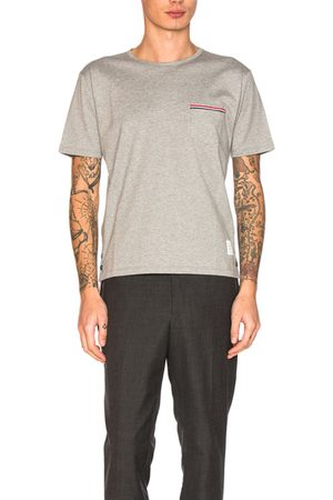 Thom Browne Jersey Cotton Short Sleeve Pocket Tee in