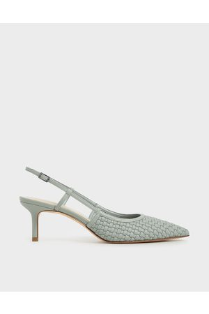 CHARLES & KEITH Woven Slingback Pumps