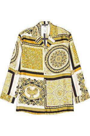VERSACE Printed Shirt in Yellow