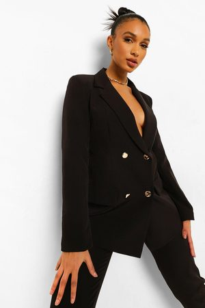 Boohoo Womens Double Breasted Fitted Blazer - - 6
