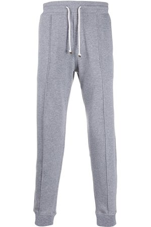 Brunello Cucinelli Men Sweatpants - Contrast waist and cuffs track pants - Grey