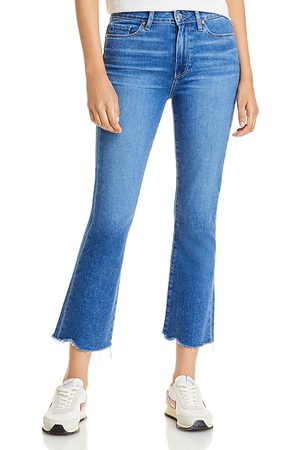 Paige Colette Cropped Flared Jeans in Bay - 100% Exclusive