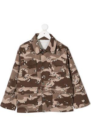 Douuod Kids N,1 camouflage print jacket
