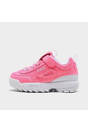 Fila Girls' Toddler Disruptor 2 Glimmer Casual Shoes in / Size 4.0