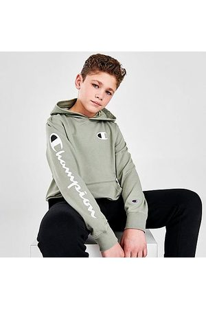 Champion Hoodies - Kids' Arm Logo Hit Pullover Hoodie in /Olive Size Small Knit
