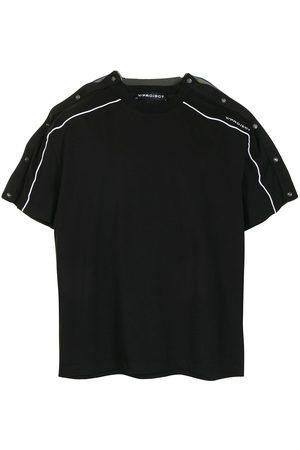 Y/Project Colour-block panelled cotton T-shirt