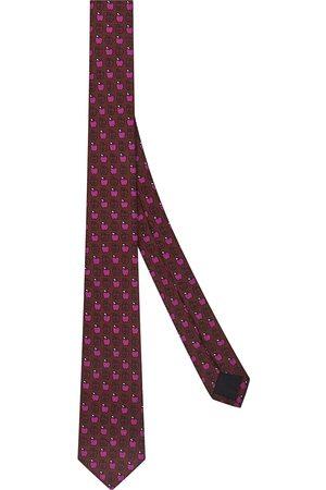 Fendi Apple print necktie