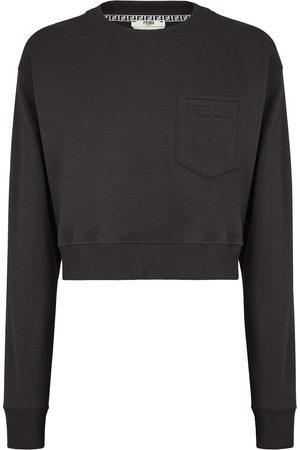 Fendi Cropped chest logo sweatshirt