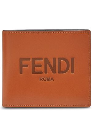 Fendi Logo-embossed bi-fold wallet